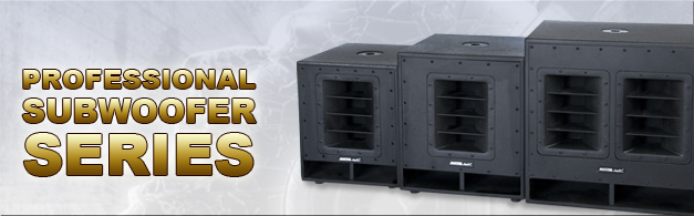 Professional subwoofer series